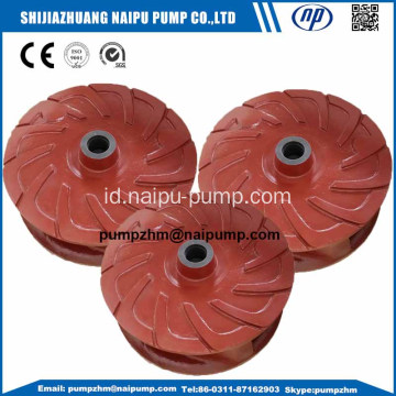 AH impeller pompa slurry horisontal